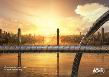 Outokumpu Stainless Steel: Bridge Print Ad by Euro Rscg Helsinki