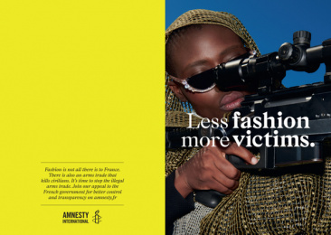 Amnesty International: Fashion & Arms, 2 Print Ad by DDB Paris, Handsome