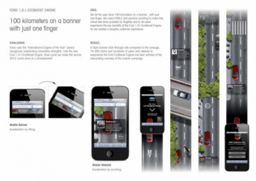 Ford: 100 km on a banner with just one finger Case study by Wunderman Frankfurt