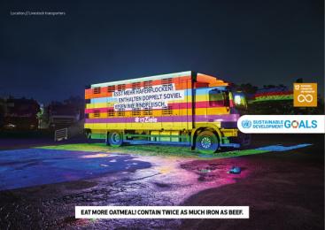 17Ziele: 17 Live Projections, 7 Print Ad by HUisHU. Digitale Kreativagentur, Hamburg & Hannover, Germany