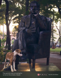 Purina: Statues, 2 Print Ad by Publicitaria Nasta Ogilvy Paraguay