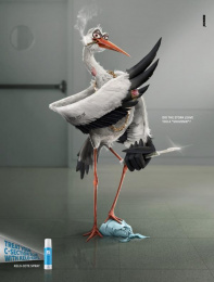 Kelo-cote: A Souvenir From the Stork Print Ad by Mench Israel