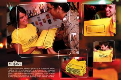 Tres Palos Cognac: T-SHIRTS Direct marketing by FCBMAYO Santiago