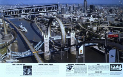 Sony Playstation2/wipeout Fusion: LONDON RACE TRACK Print Ad by TBWA\ London