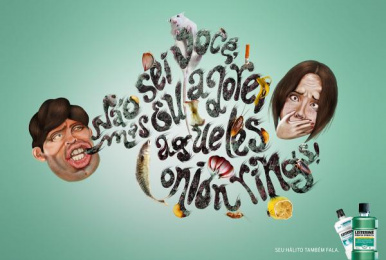 Listerine: Onion Rings Print Ad by Escola Cuca