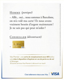 Visa: Homme Print Ad by Saatchi & Saatchi + Duke France