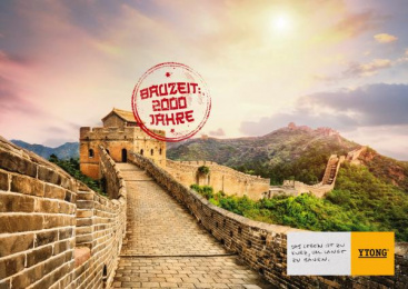 Xella: Building Times – Chinese Wall Print Ad by Heimat Wien