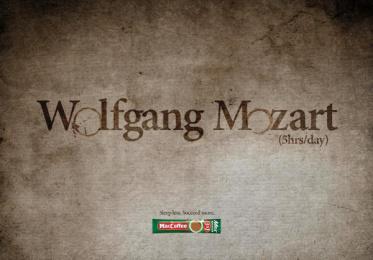 Maccoffee: Wolfgang Mozart Print Ad by Cheil Kazakhstan