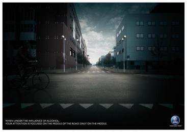 Saab Anti Drink&drive: BICYCLE Print Ad by Leagas Delaney Milan