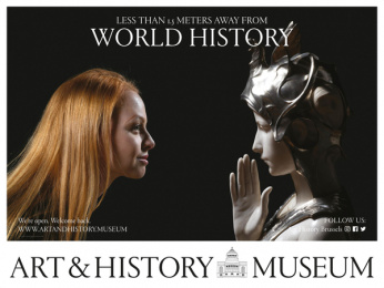 Art & History Museum: Less Than 1.5 Meters Away From World History, 3 Outdoor Advert by Kopstoot, Belgium