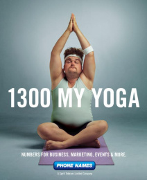 Phone Names: 1300 My Yoga Print Ad by Magnum Opus