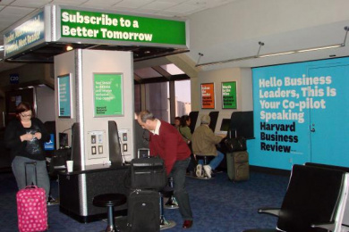 Harvard Business School: Airport Print Ad by Zig