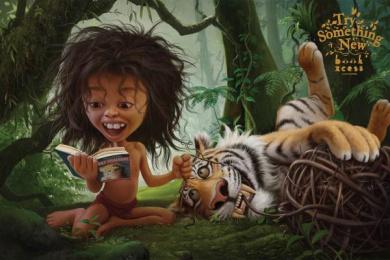 BookXcess: Mowgli Print Ad by Leo Burnett Kuala Lumpur