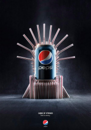 Pepsi: Game of straws - Thirst is coming Print Ad by Buzz In A Box