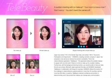 Shiseido: Telebeauty [image] Digital Advert by Hakuhodo Kettle Tokyo