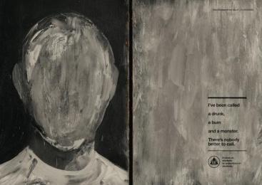 Aa Alcoholics Anonymous: Grey Face Print Ad by J. Walter Thompson Sao Paulo