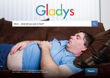 FiberTel: Search Engine - Gladys Print Ad by Don