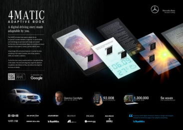 Mercedes-Benz: 4matic Adaptive Book [image]  Digital Advert by Psycle, Roncaglia & Wijkander