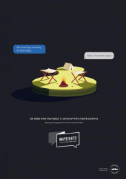 Movember: Camping Print Ad by Cummins & Partners Sydney
