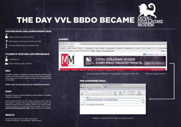 VVL BBDO: BBDO BECOMES DUVAL GUILLAUME MODEM Promo / PR Ad by VVL BBDO Brussels