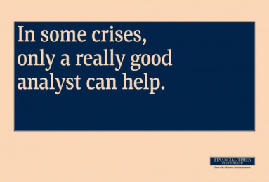 Financial Times: ANALYSTS Print Ad by KNSK