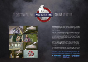 Sony Pictures: No Metro [image] 2 Outdoor Advert by Shackleton Spain