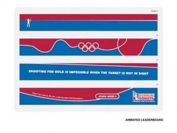 Dunkin Donuts: Leaderboard Outdoor Advert by The Creative Circus