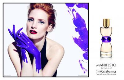 Yves Saint Laurent: Purple paint [english] Print Ad by Luxury Arts, TBWA Paris