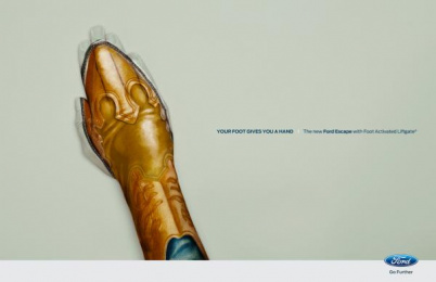 Ford LiftGate technology: Boot Print Ad by Zubi Advertising