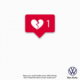 Volkswagen: Keep your social media away Print Ad by Pipe bomb Advertising, Bengaluru, India
