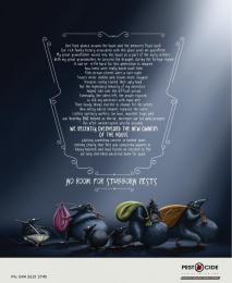 Pest O Cide: No room for pests Print Ad by Chirpy Elephant