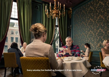 Eurosport Tv Channel: HIGH TEA Print Ad by Publicis Conseil Paris