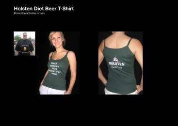 Holsten Diet Beer: DIET BEER SHIRT Outdoor Advert by Scholz & Friends Hamburg