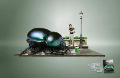 Automovil Panamericano: Beetle Print Ad by Team collaboration