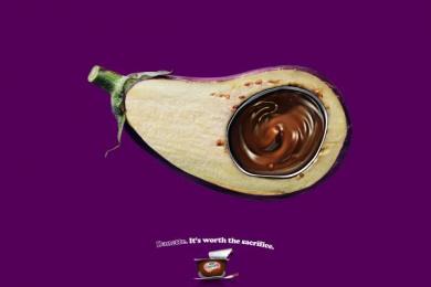 Danette: Eggplant Print Ad by Y&R Sao Paulo