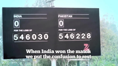 Zee News: The Misunderstood Scoreboard [alternative version] Outdoor Advert by DDB Mudra Group Mumbai
