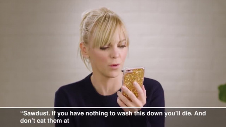 KIND: Anna Faris Reads Competitor Protein Bar Reviews Film