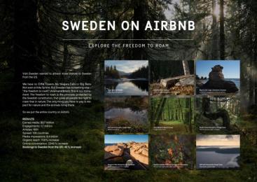 Visit Sweden: Sweden On Airbnb [presentation image]  Digital Advert by Forsman & Bodenfors Gothenburg