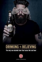 Super Bock: Man Print Ad by Caldas Naya Barcelona