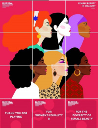 BURIBA.: Female Beauty in Equality - Instagram Puzzle, 1 Print Ad by BURIBA.