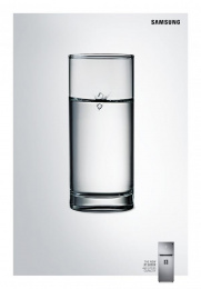 Samsung RT 6000K: Glass of Water Print Ad by Cheil Kazakhstan
