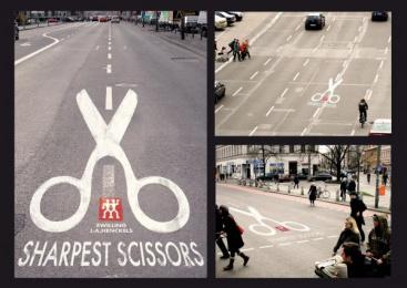 Multifunctional Scissors: SHARPEST SCISSORS Outdoor Advert by Scholz & Friends Berlin
