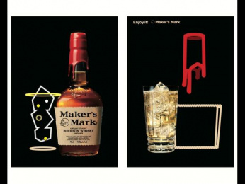 Maker's Mark: Lighting Sheet Poster - Flame Outdoor Advert by Hakuhodo Tokyo, SIX Tokyo, Tohokushinsha Film Corporation