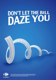Carrefour: Don't Let The Bill, 1 Print Ad by Wunderman, Jordan