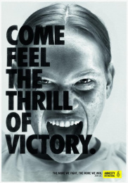 Amnesty International: The Thrill Of Victory, 3 Print Ad by DDB Paris