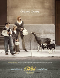Royal Agricultural Winter Fair: Family vs. Goats Print Ad by Zig