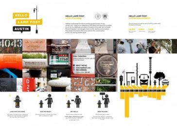 Austin City Hall: Hello Lamp Post Austin Case study by DH,LO Creative Boutique, Pan
