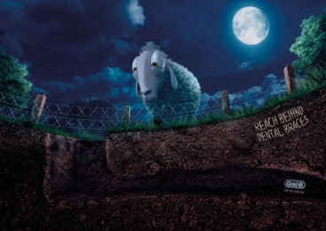 Oral-b: Sheep Print Ad by Publicis Yorum Istanbul