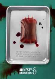 Amnesty International: Blood Bag Print Ad by Miami Ad School Miami