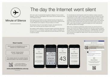 MUTIARA: Minute Of Silence - The Day The Internet Went Silent Digital Advert by McCann Erickson Kuala Lumpur